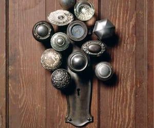 brown, doorknobs, and doors image