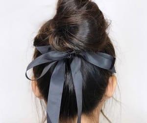 aesthetic, bun, and black image