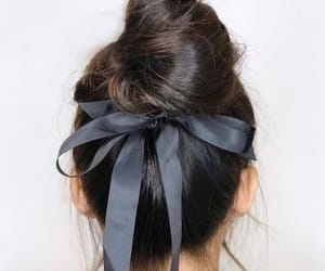 hair, aesthetic, and bow image