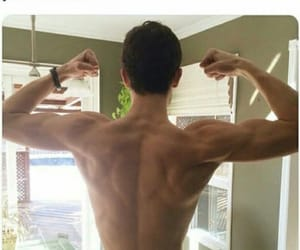 back, muscles, and pretty image