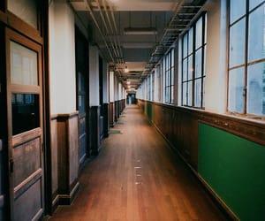 classroom, corridor, and hallway image