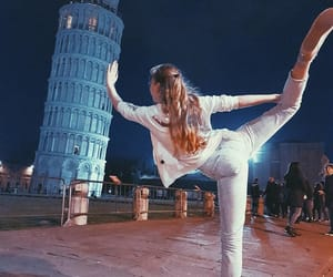 flexible, leaning tower of pisa, and love image