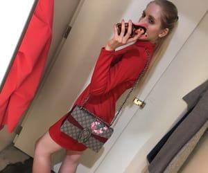 bag, blonde, and fashion image