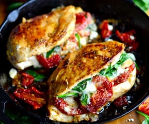 food, cheese, and Chicken image