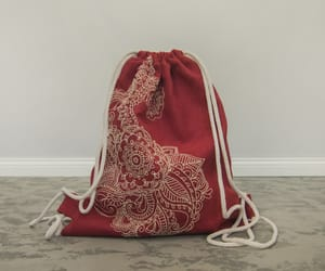 backpack, embroidery, and bag image