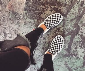 black, vans, and fashion image