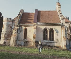abandoned, castle, and girl image