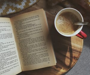 book, coffee cup, and books image