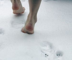 snow, cold, and feet image