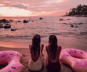 friendship, summer, and beach image
