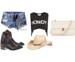 boots, chanel, and Cowgirl image