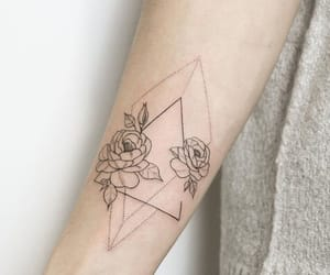 flower, tattoo, and girl image