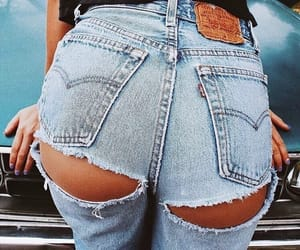 aesthetic, ripped jeans, and outfit goals image