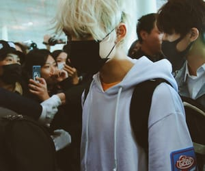 airport, blonde, and soft image
