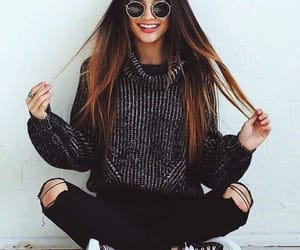 black converse, fall, and outfit image