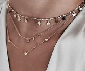 necklace, stars, and gold image