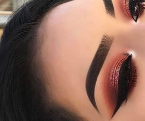 eyebrows, eyelashes, and mac image