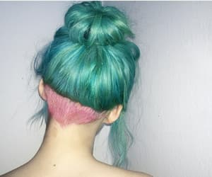 colorful, green, and hair image