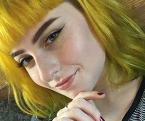 colorful, girl, and yellow image