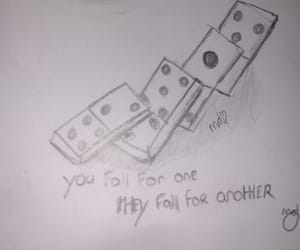 domino, drawing, and falling for him image