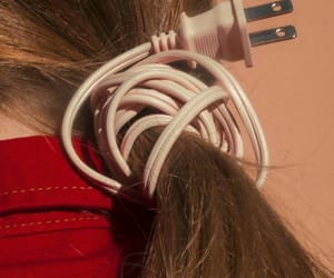 hair, aesthetic, and cord image
