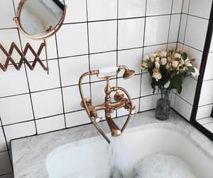 bath, home, and bathroom image