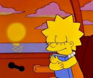 simpsons, sunset, and the simpsons image