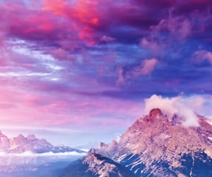 mountains, cloud, and sky image