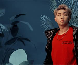 gif, bangtan boys, and rap monster image