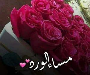 مساء الخير and مساء الورد image