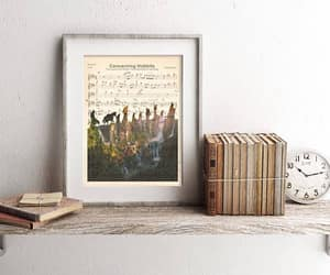 etsy, lord of the rings, and sheet music art image