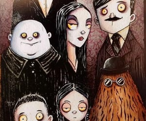 lucas, morticia, and merlina image