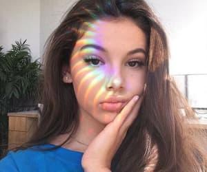 girl, rainbow, and beauty image
