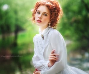 hair red, beauty, and eye image