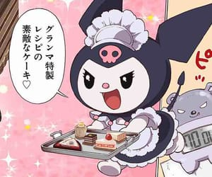 maid, -, and kuromi image