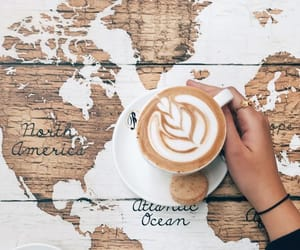 coffee and map image