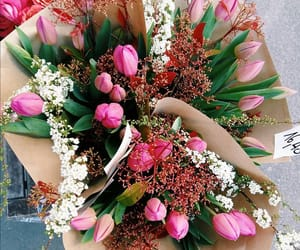 blogger, bouquet, and flowers image