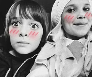 noah schnapp, millie bobby brown, and stranger things image