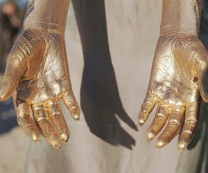 gold and hands image