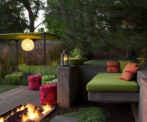 garden, midcentury, and outdoor living image