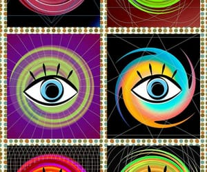 art, colorful, and eyes image