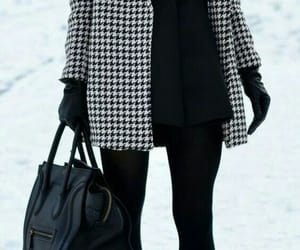 fashion, winter, and black image