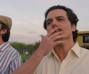 pablo escobar, wagner moura, and narcos image