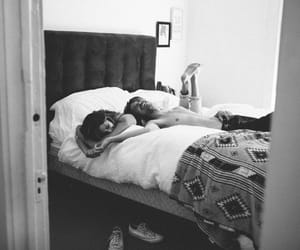 love, bed, and couple image