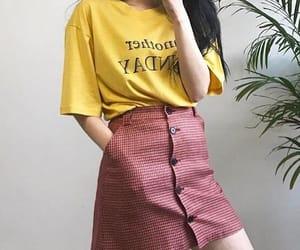 aesthetic, korean, and skirt image
