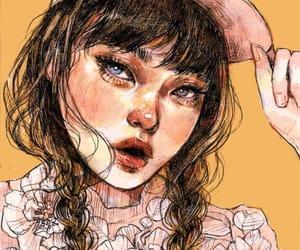 art, beautiful, and heart image