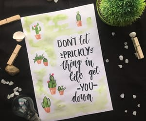 brush, cactus, and calligraphy image