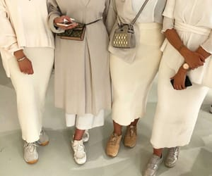 accessories, friends, and modest outfits image