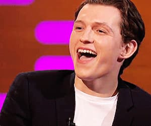 actor, tom holland, and funny face image