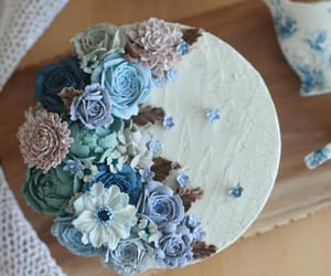 blue, cake, and dessert image